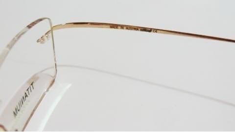 3c9e4c25f1bec Armação Oculos Grau Flexivel Silhouette Titanium S Aro Gold - R  79 ...