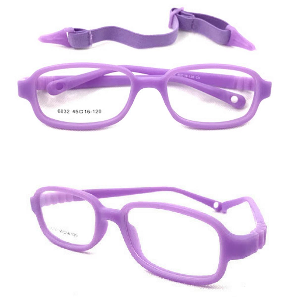 8033e72f3 armação óculos grau flexível silicone infantil menina 6032. Carregando zoom.