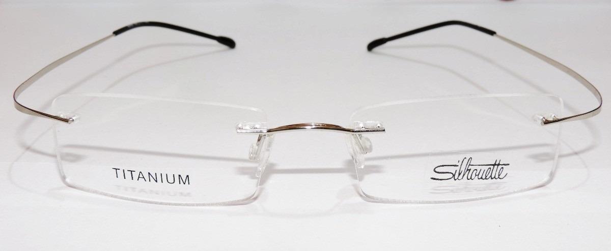 7ee2b7d647fed armação oculos grau flexivel titanium prata import sem aro. Carregando zoom.