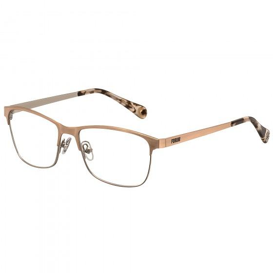 2a9c6fbaf Armação Óculos Grau Fórum F6003e0553 Dourado - Refinado - R$ 296,00 ...