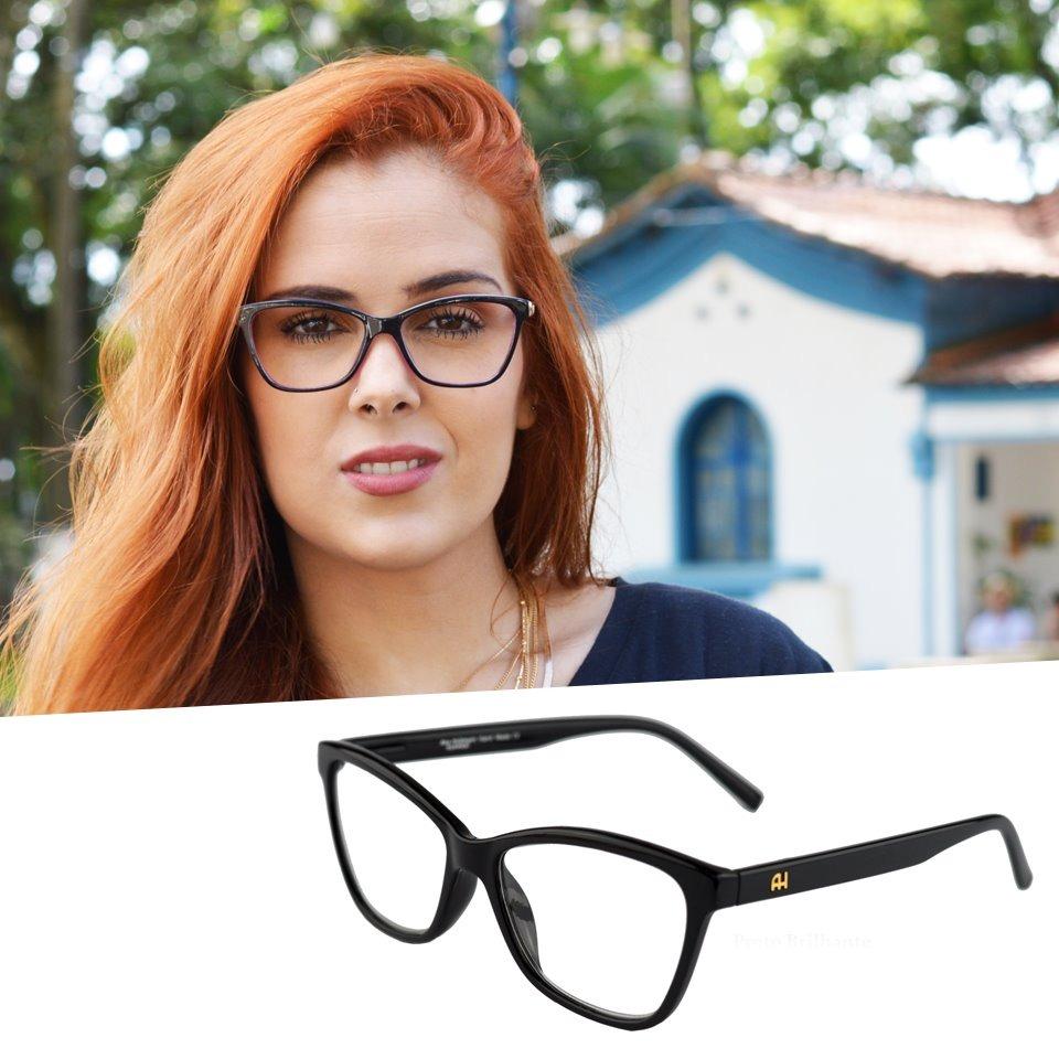 708f5d182 armação óculos grau gatinho feminino acetato original ah6197. Carregando  zoom.