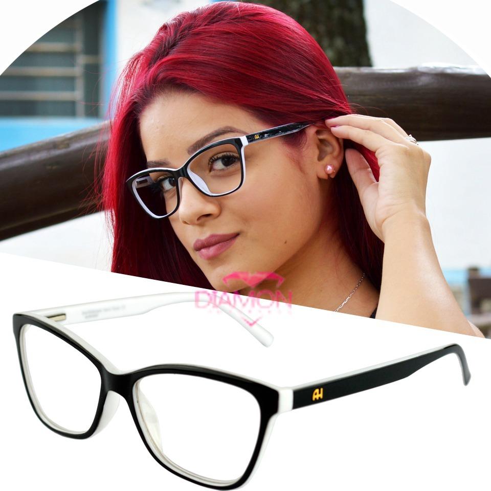 85ec6e824ecf7 armação óculos grau gatinho feminino geek lançamento ana h. Carregando zoom.