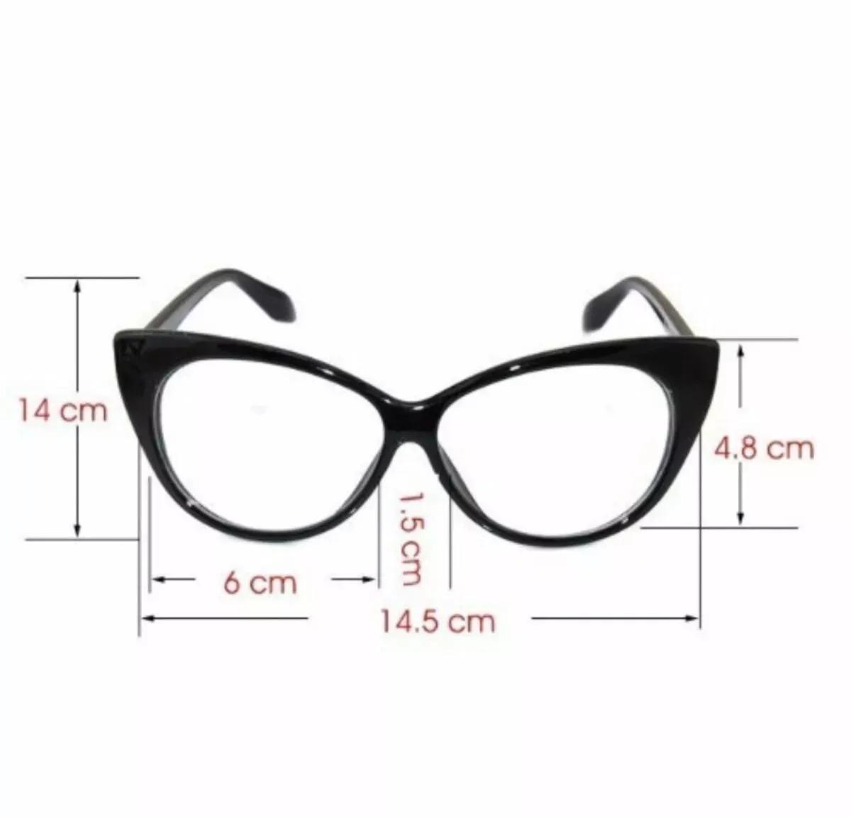 5f8835635beb1 Armação Óculos Grau Gatinho + Lente Miopia 4