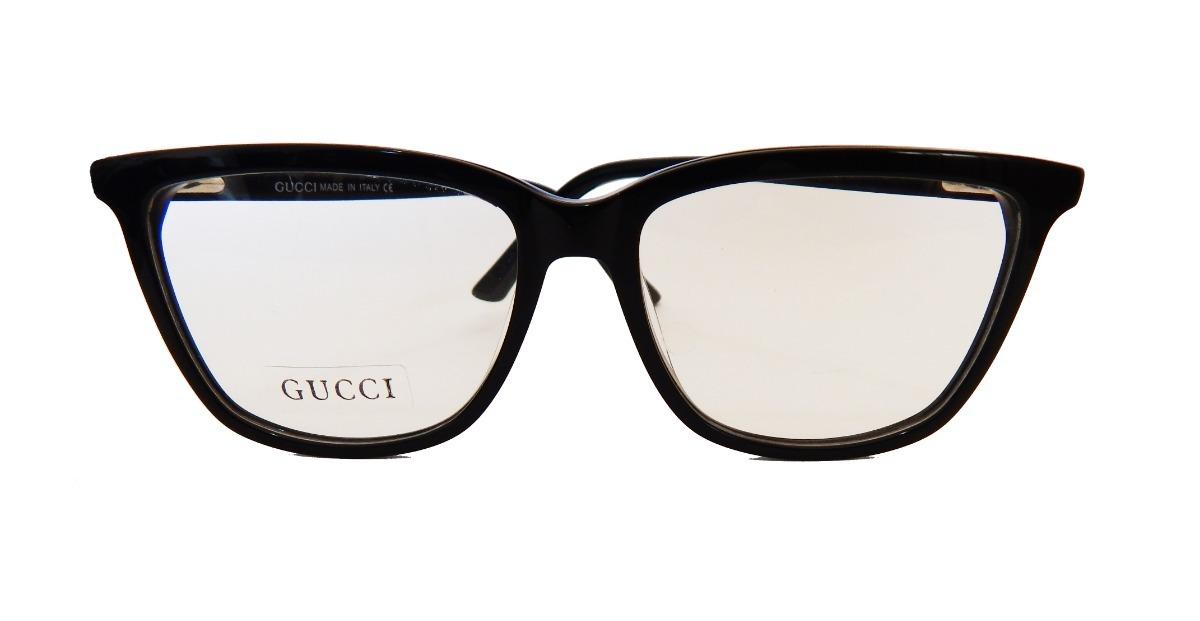 aa3ccb65b71a8 armação óculos grau gucci masculino feminino preto quadrado. Carregando  zoom.