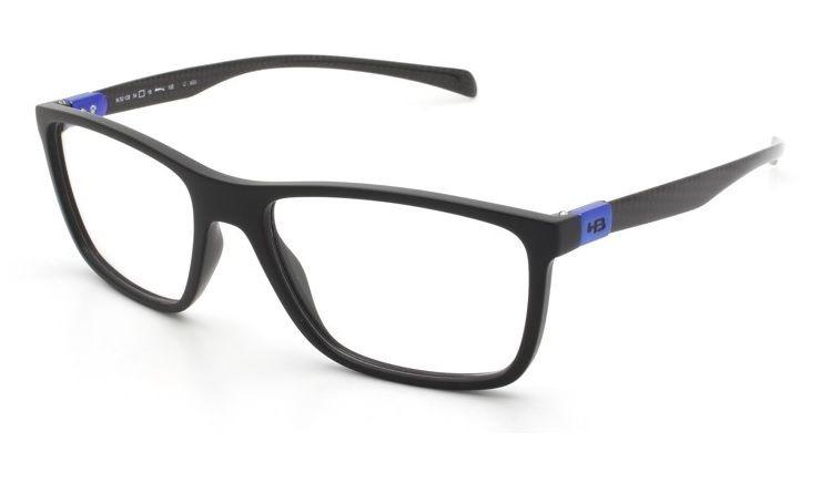 167dc0bc9434e Armação Oculos Grau Hb Duotech 9313892033 Preto Fibra Carbon - R ...