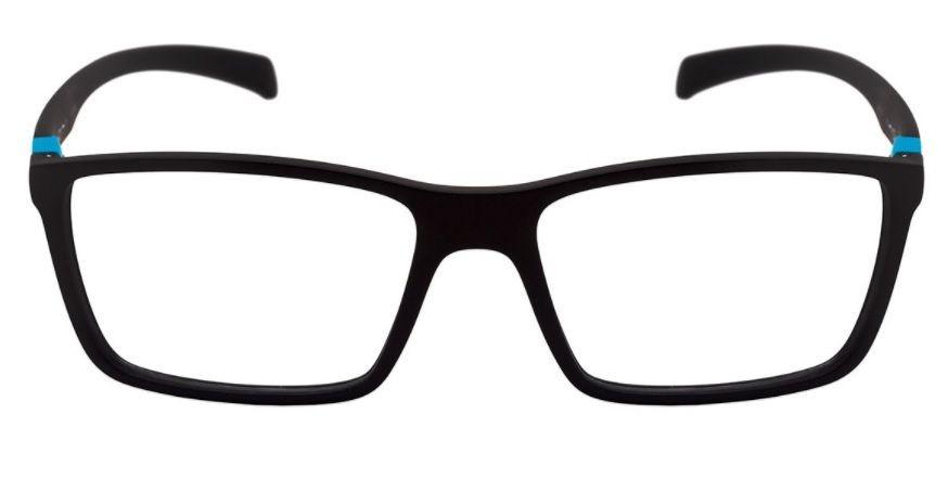 caef2b32db2fa armação oculos grau hb polytech 9313671033 preto fosco azul. Carregando  zoom.