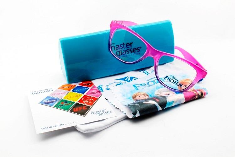29c2765a1 Armação Oculos Grau Infantil Disney Frozen Anna Original - R$ 249,90 ...
