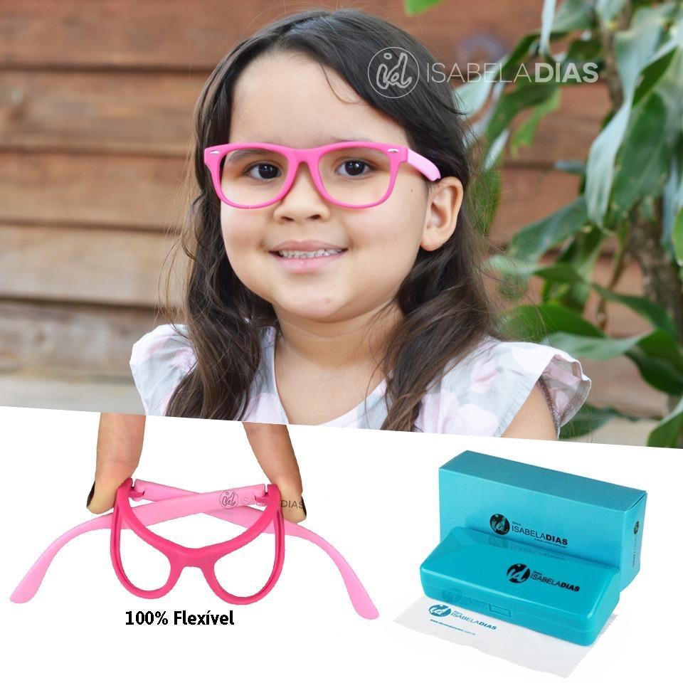 a1319322d Armação Óculos Grau Infantil Elastico Flexível Sem Grau 227 - R$ 89 ...