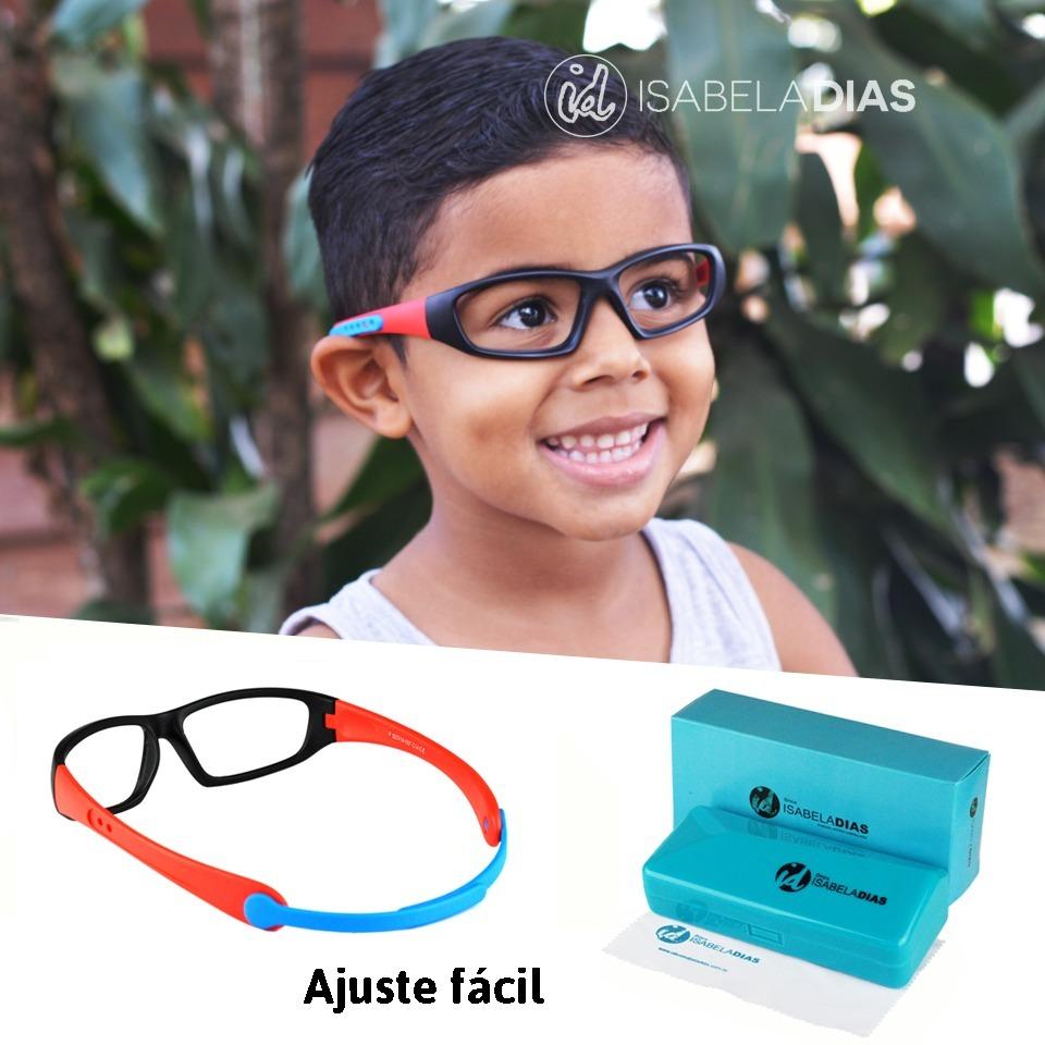 93c3771c1 Armação Óculos Grau Infantil Flexivel Elastico Isabela Dias - R$ 79 ...