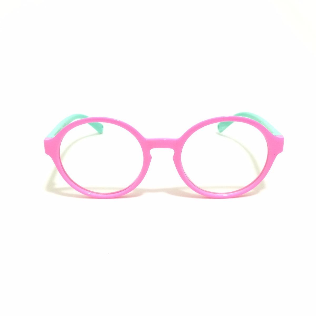 bd0da6d17 armação óculos grau infantil flexível silicone menina 8143. Carregando zoom.
