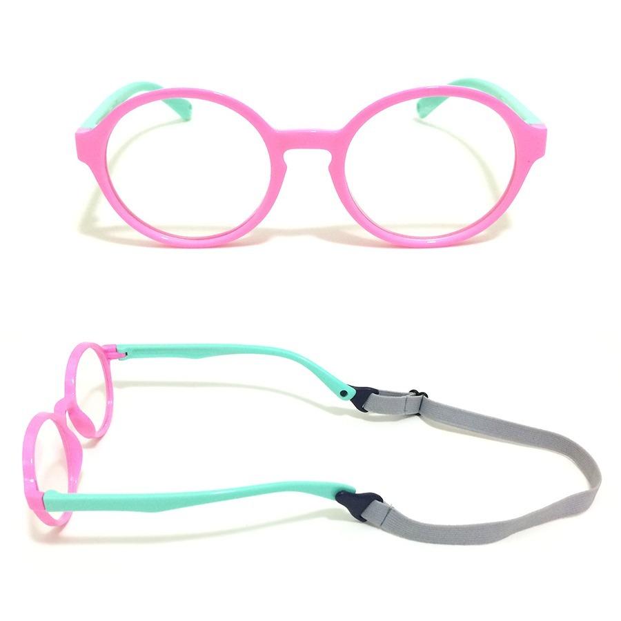Armação Óculos Grau Infantil Flexível Silicone Menina 8143 - R  69 ... 7a4f74c863