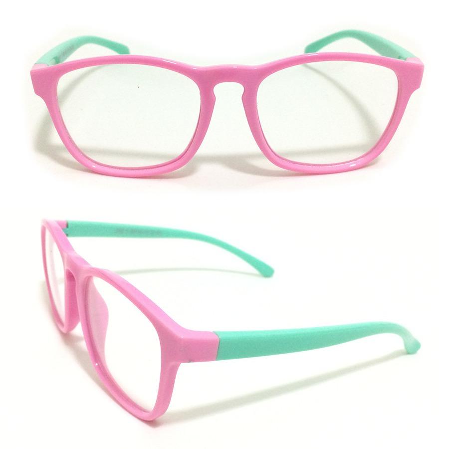 ff0317c69 armação óculos grau infantil flexível silicone menina s891. Carregando zoom.