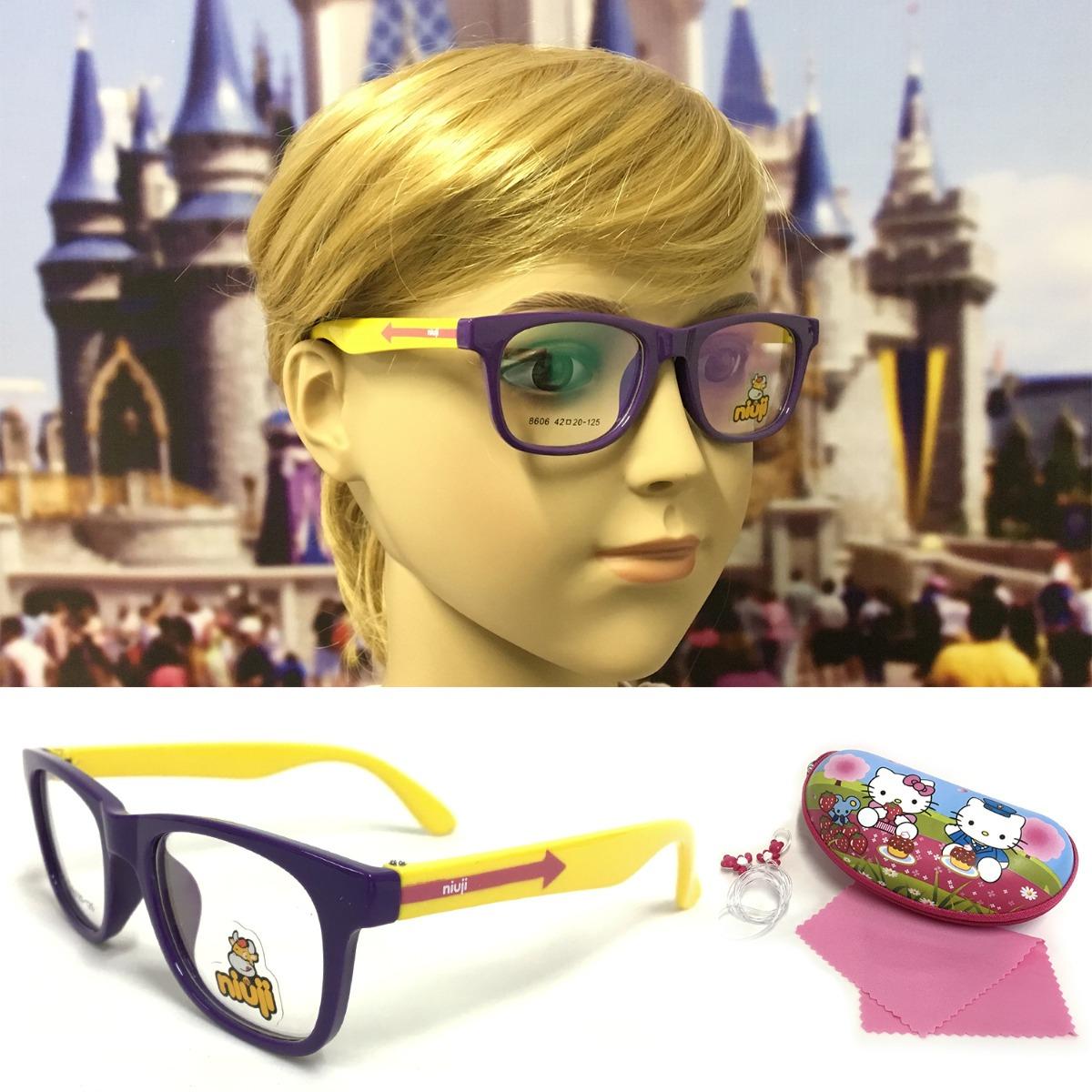491ef8d3e armação óculos grau infantil flexível silicone s8606r menina. Carregando  zoom.