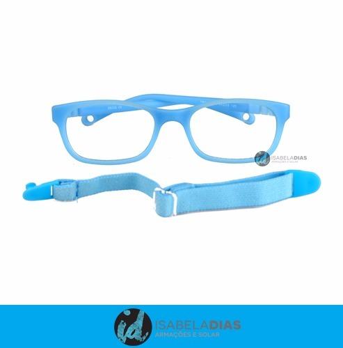 4e6cc737e6d1c Armação Óculos Grau Infantil Flexivel Tr90 3-8 Anos Mas Femi - R  78 ...