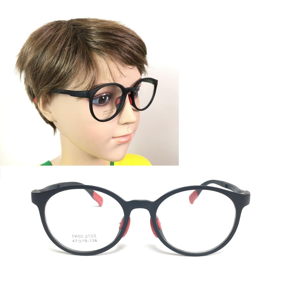 1d4225a76 Armação Óculos Grau Infantil Plastico Menino 2103 - R$ 71,46 em ...