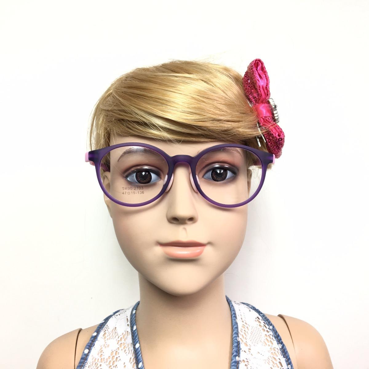 ded8ff0c5637b armação óculos grau infantil plastico silicone menina 2103. Carregando zoom.
