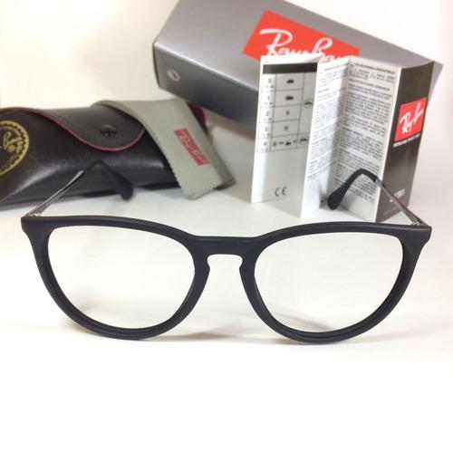 armação óculos grau leve feminino gatinho eric erika rb 7141