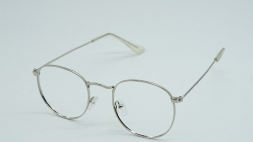 0168adaacf9b1 Armação Óculos Grau Masculina Cinz Redonda Round Metal Prata - R  45 ...