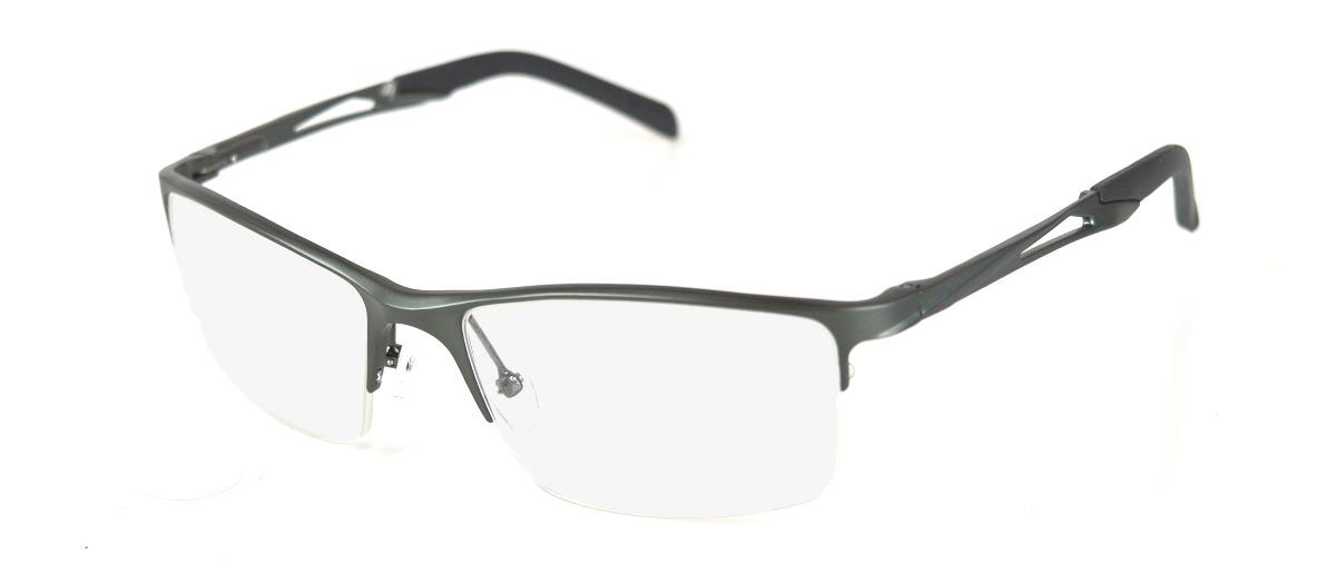 13ef27e67 armação óculos grau masculino alumínio barato cinza escuro. Carregando zoom.