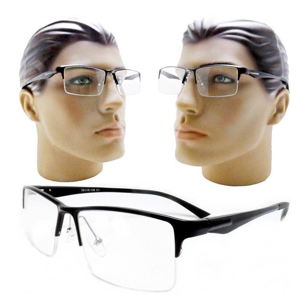 Armação óculos Grau Masculino Aluminio Black Esportivo 2019