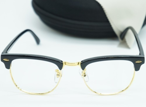 31a6f7f3d8a26 Armação Óculos Grau Masculino Club Master Retro Preto 3016 - R  39 ...