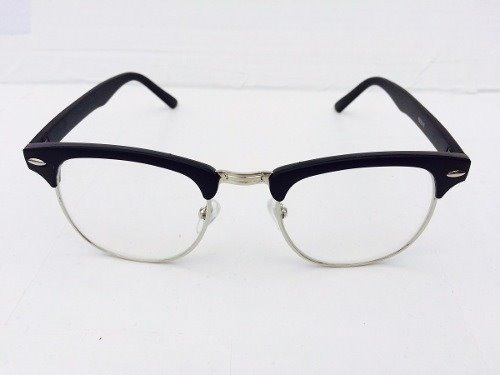 0eace555bdc98 Armação Óculos Grau Masculino Club Master Retro Preto Rb - R  69