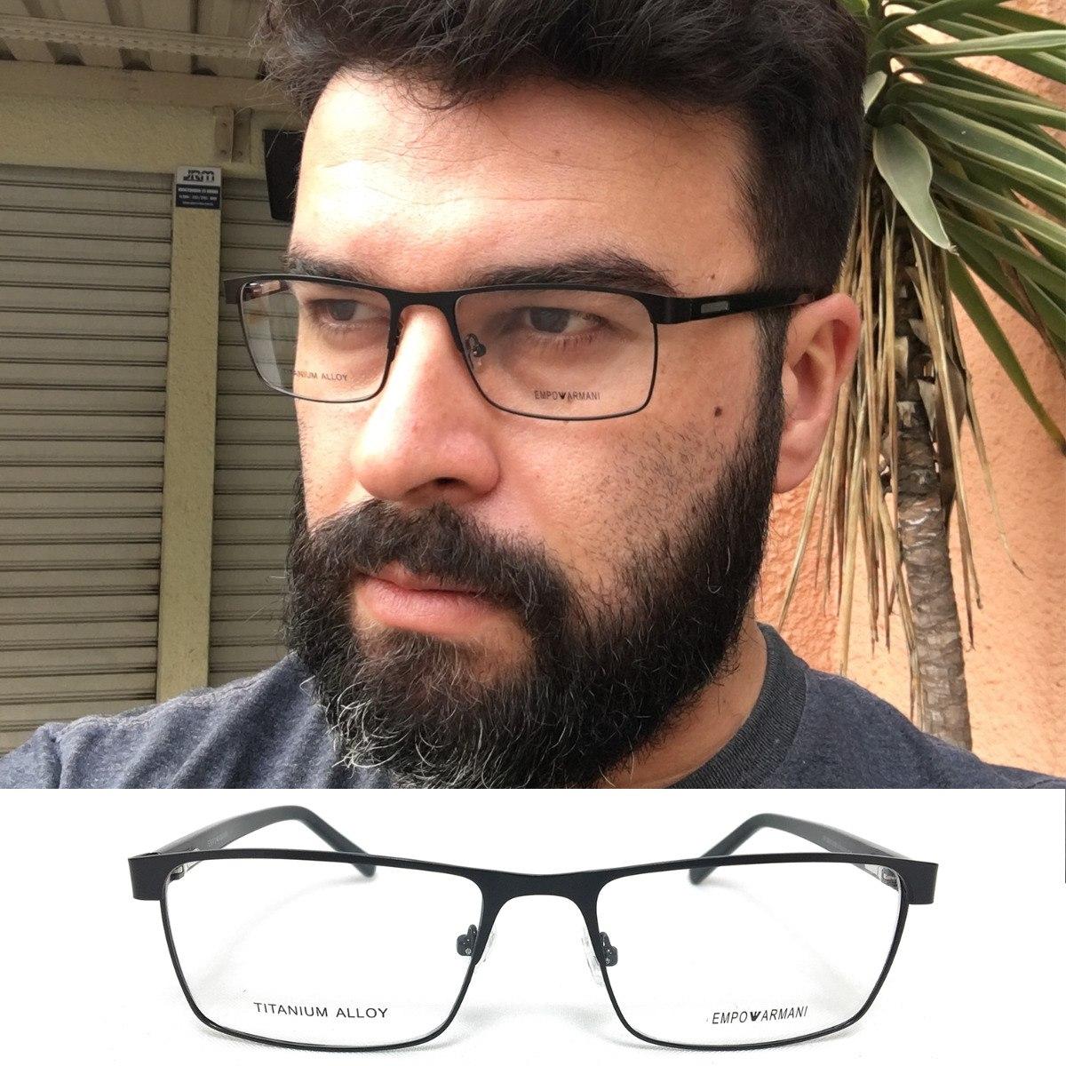 35adf13f8c93f armação oculos grau masculino ea050 acetato tendencia 2018. Carregando zoom.