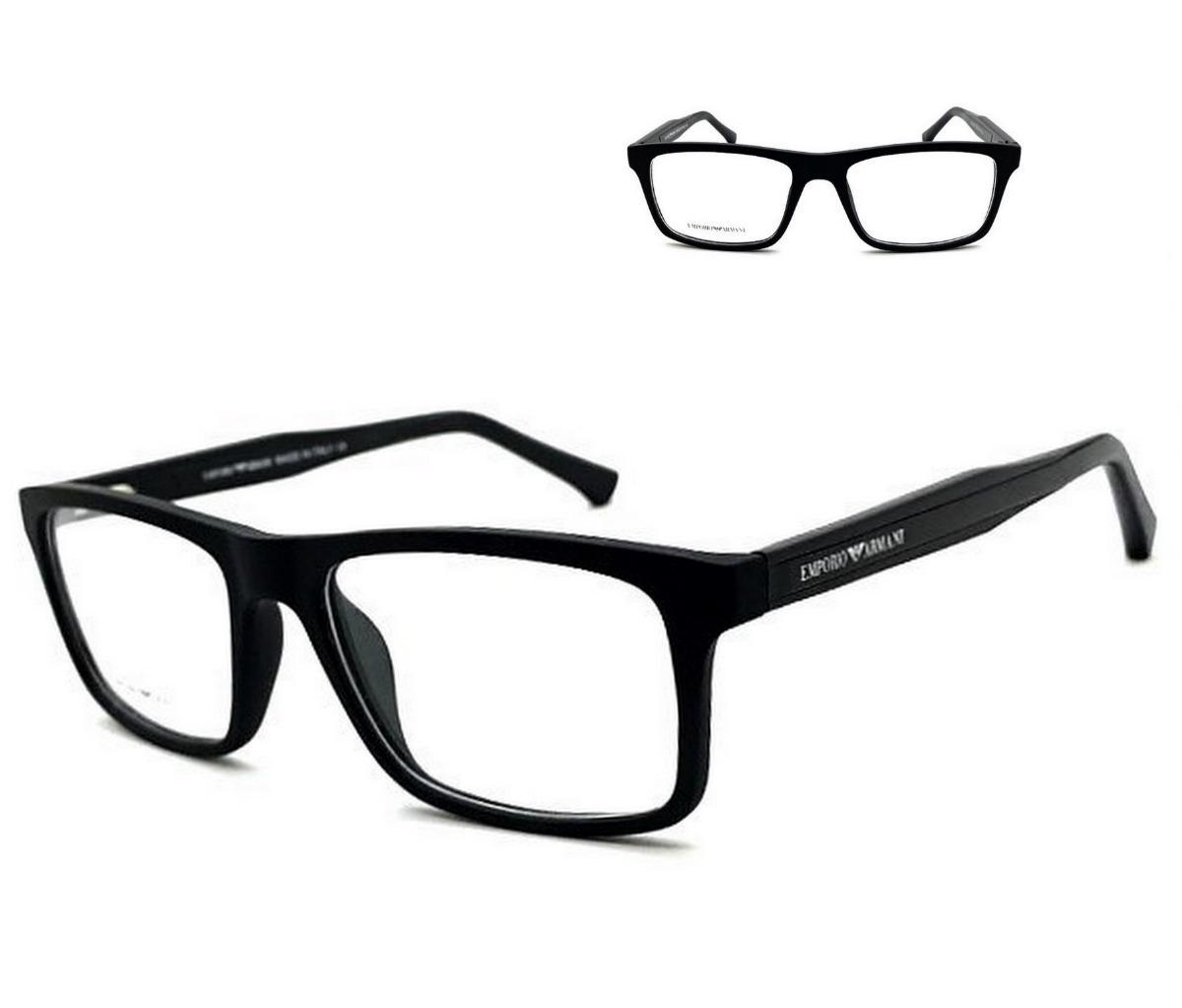 36a78dedb Armação Oculos Grau Masculino Ea3002 Acetato Original - R$ 120,00 em ...