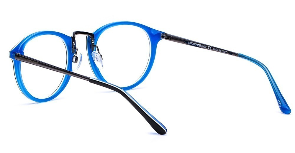 d4760d770 armação óculos grau masculino emporio ea31 acetato-redondo. Carregando zoom.