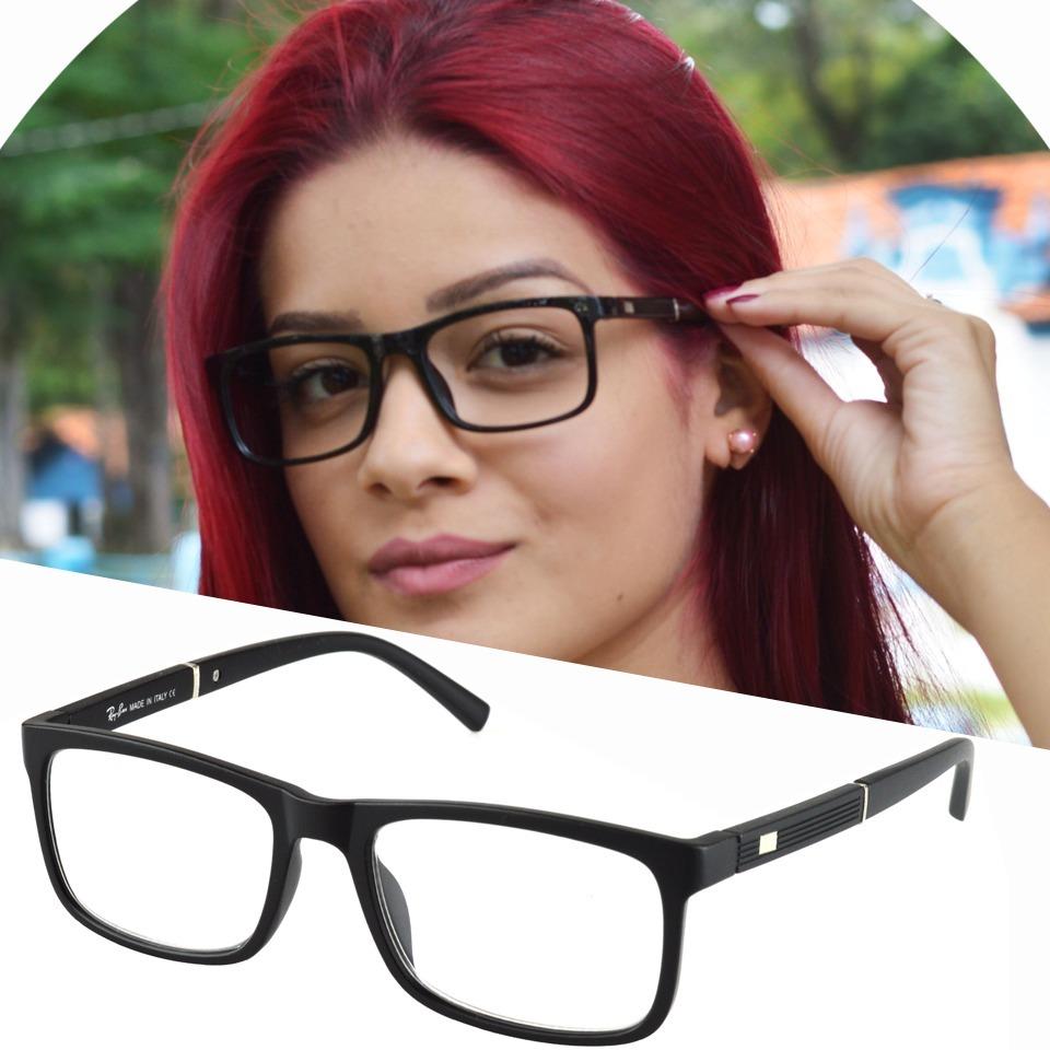 armação óculos grau masculino feminino quadrado rayban 5001. Carregando  zoom. 383f2c9618