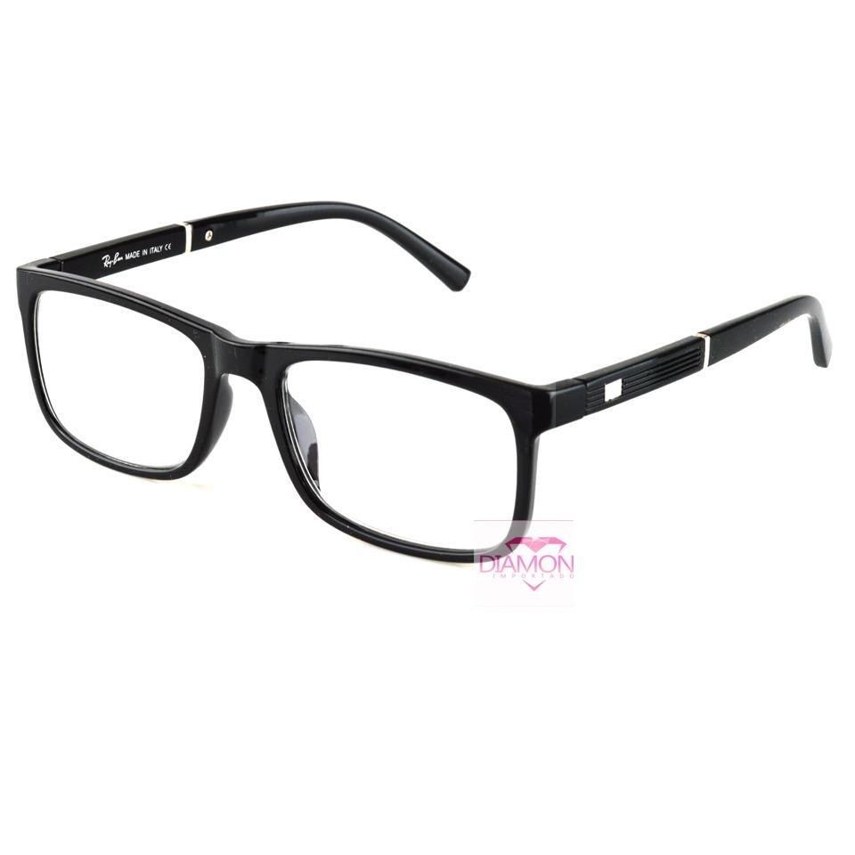 armação óculos grau masculino feminino quadrado rayban 5001. Carregando  zoom. 27969847dd