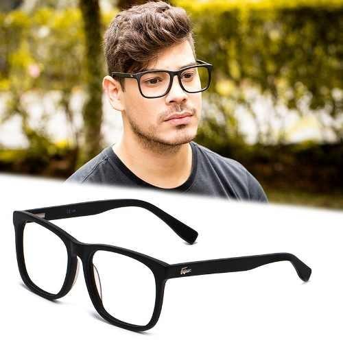 Armação Óculos Grau Masculino Grande La25 Quadrado Acetato - R  120 ... b296bd7668