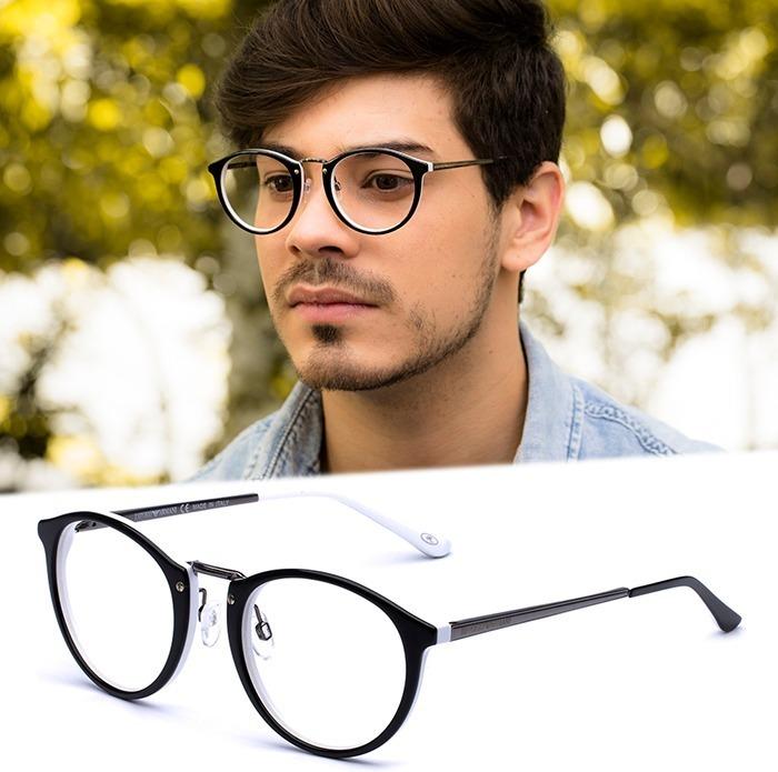 6a32b57ae0d84 Armação Oculos Grau Masculino Importado Ea34 Acetato Redondo - R  120