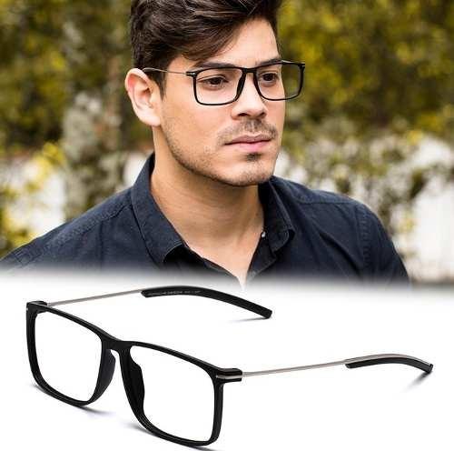 Armação Oculos Grau Masculino Importado Ps16 Acetato Metal - R  126 ... 2b127992ad