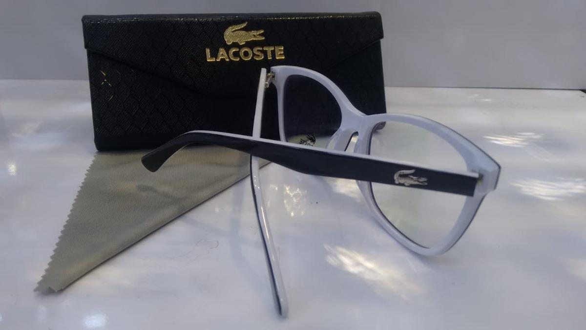 Armação Oculos Grau Masculino Lacoste Acetato Original - R  99,99 em ... 5e3920b0c7