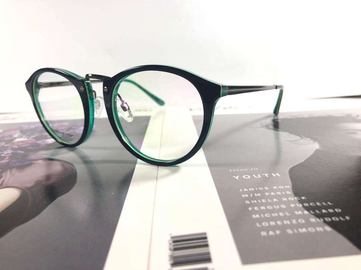 e896ce11c armação oculos grau masculino ls103 acetato redondo promoção. Carregando  zoom.