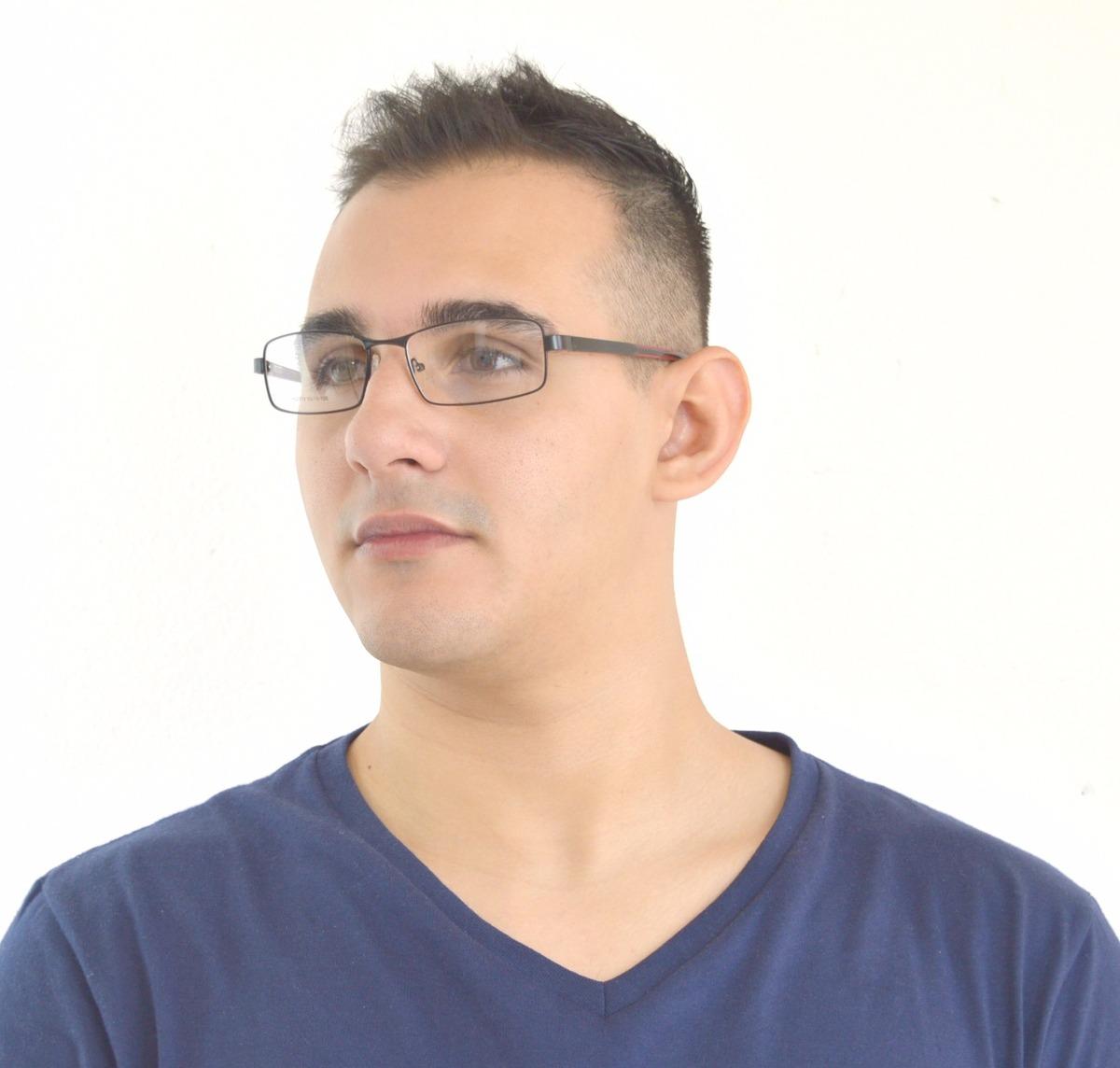 armação óculos grau masculino metal social preto leve hj2710. Carregando  zoom. 34a2337242