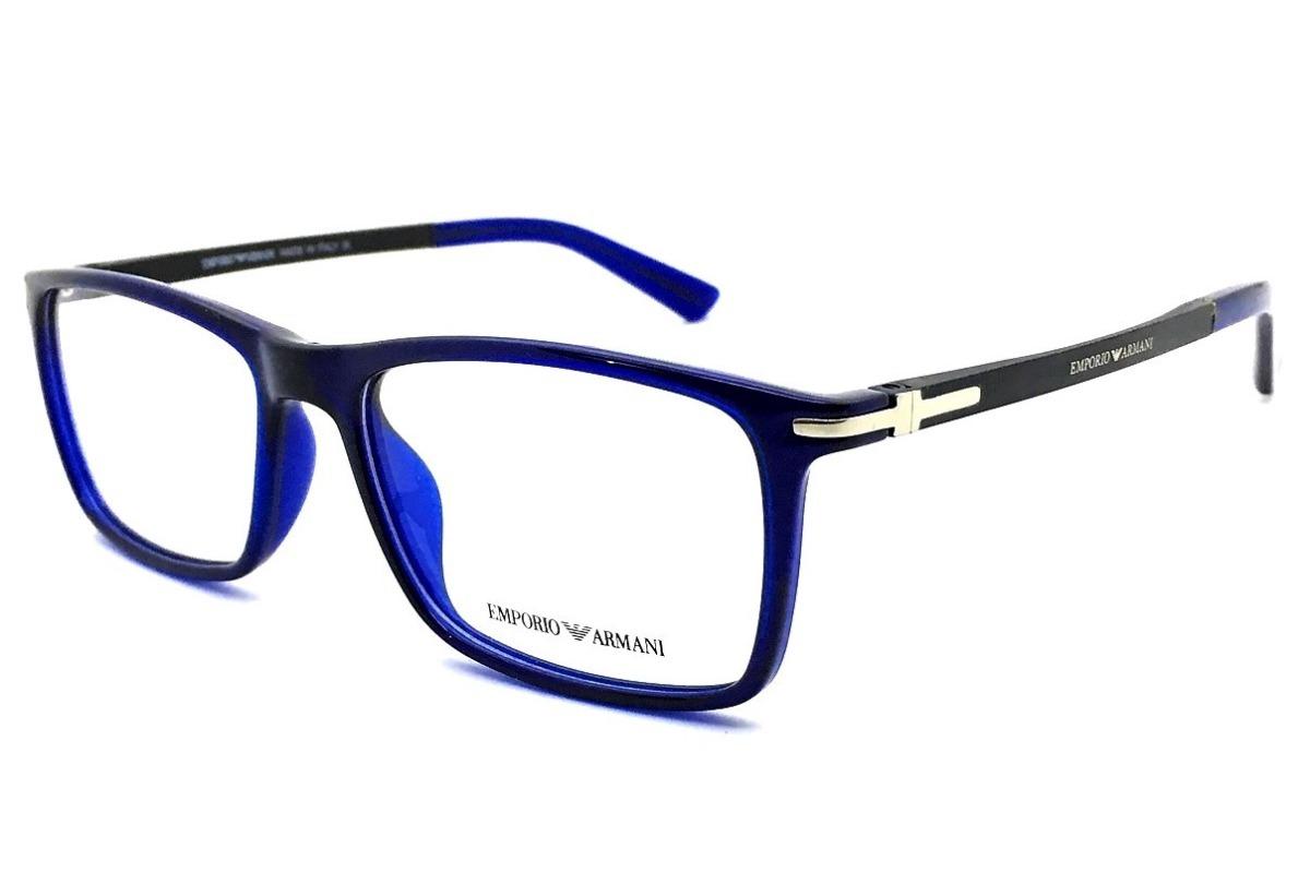 1ca167867f942 armação oculos grau masculino original ea1105 armani acetato. Carregando  zoom.