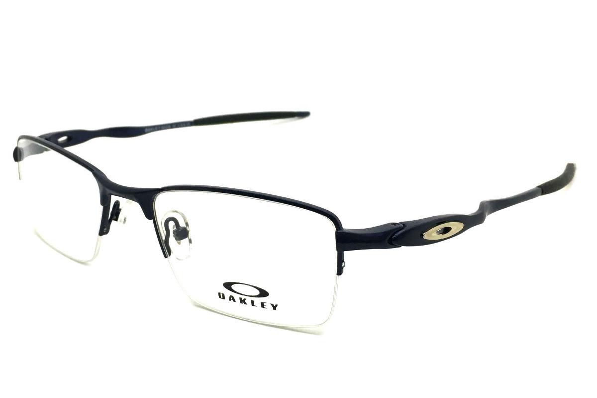 1153f5a082d5d armação oculos grau masculino ox828 meio aro nylon. Carregando zoom.