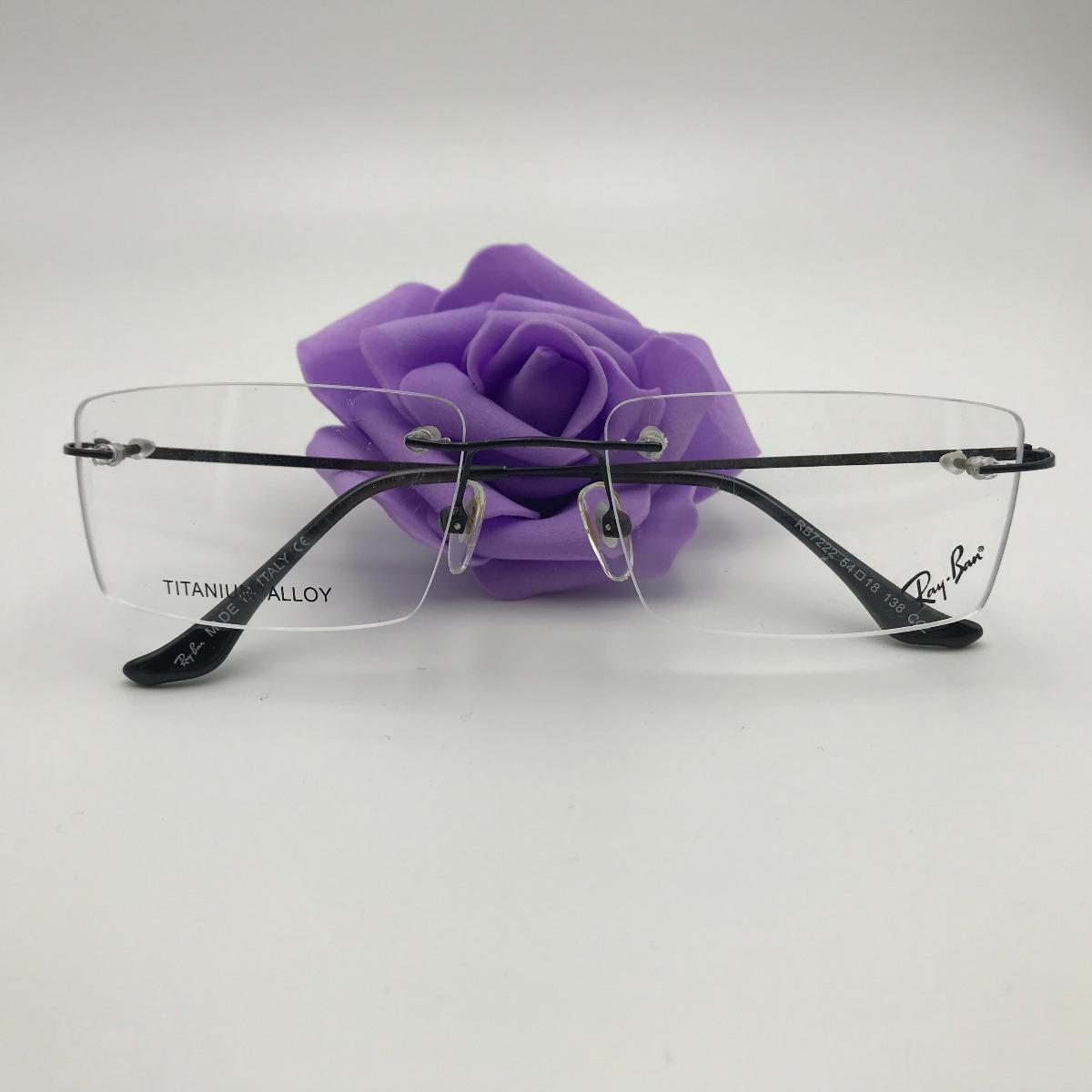 4fade35b88bf4 armação óculos grau masculino parafusado titanium metal 7222. Carregando  zoom.