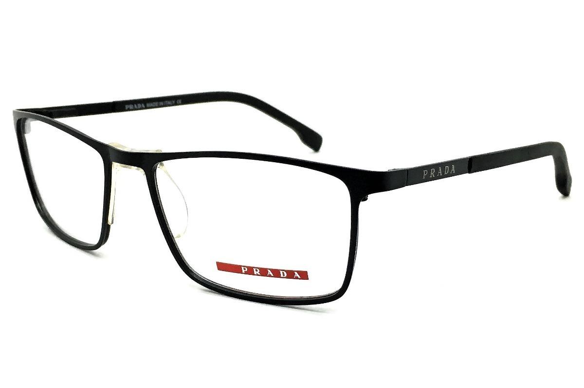 17a195bdac567 armação oculos grau masculino pr51rv titanio original moda. Carregando zoom.