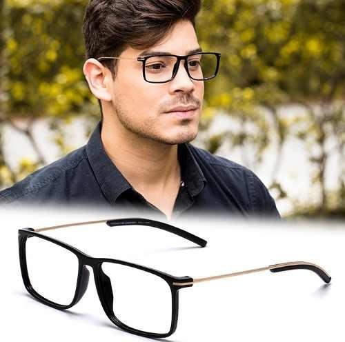 db74f8408e8b6 Armação Oculos Grau Masculino Ps15 Importado Acetato Metal - R  120 ...