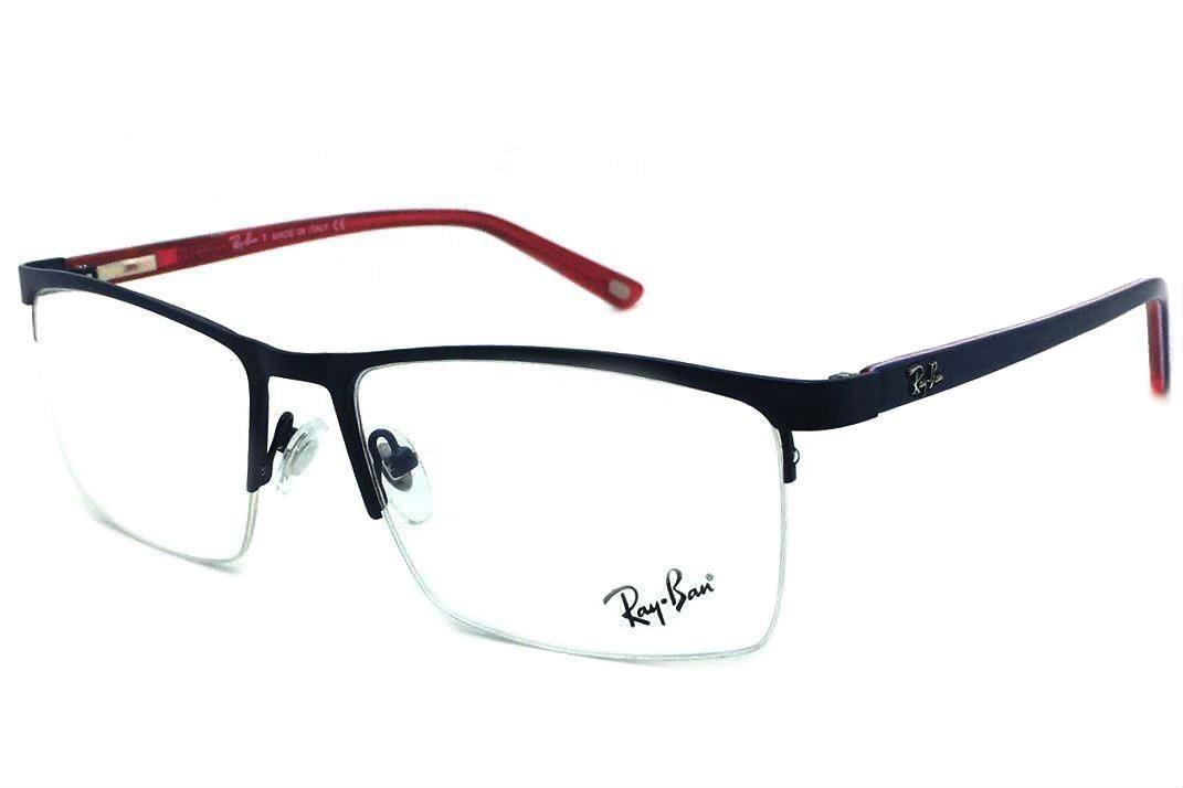 793f9b2c70d06 armação oculos grau masculino rb9137 original meio aro. Carregando zoom.