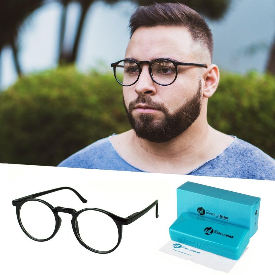 armação óculos grau masculino redondo geek isabela dia 6601. Carregando  zoom. 95351e35fb