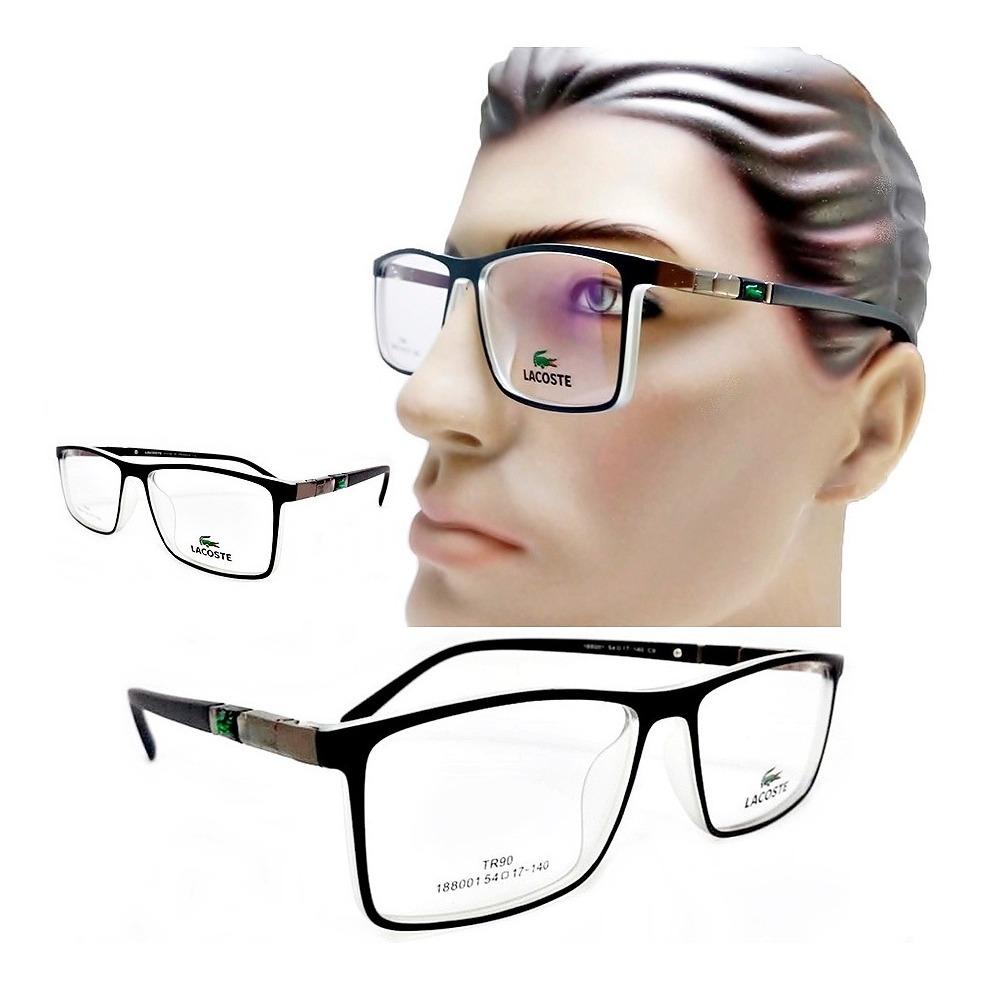 Armação óculos Grau Masculino Social Para Rosto Redondo