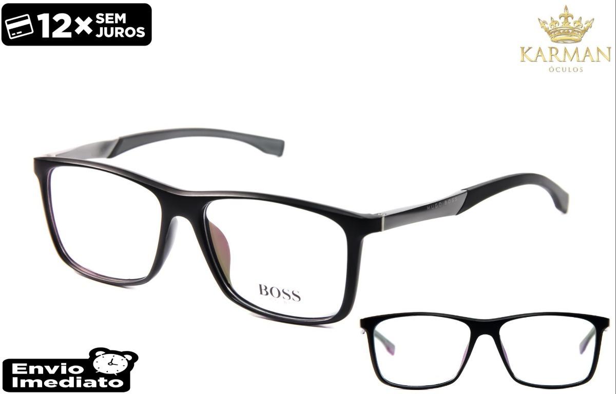 fb3fccf33bd93 armação óculos grau masculino sport boss leve e confortável. Carregando zoom .