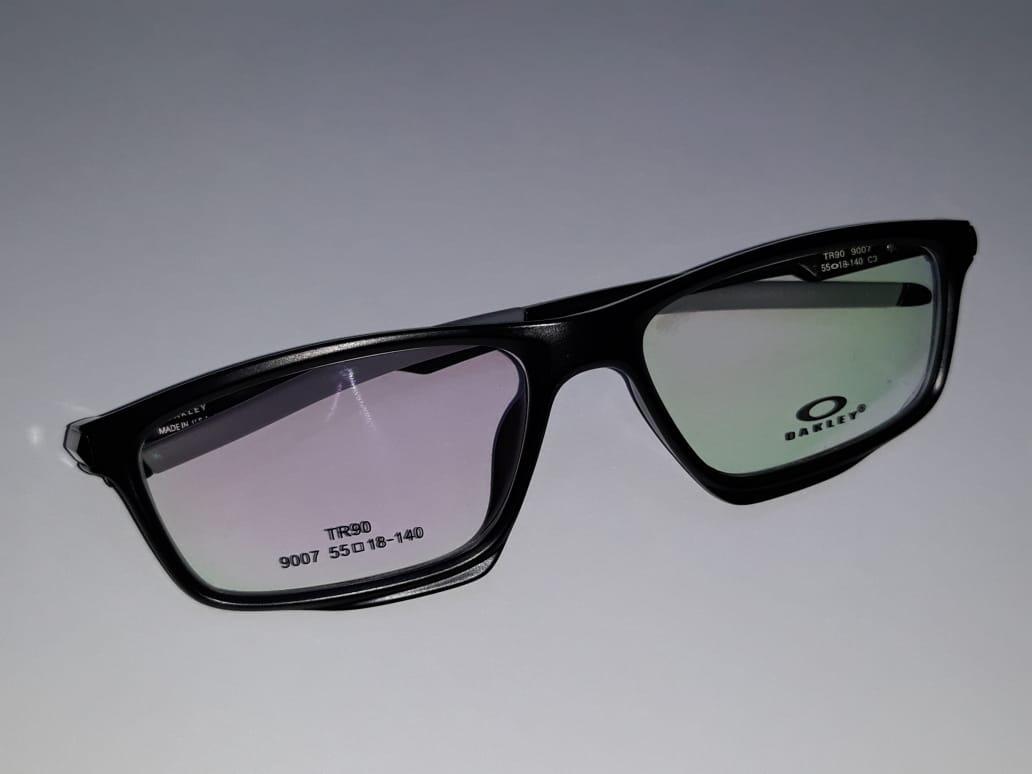armação oculos grau masculino tr90 9007 black super leve. Carregando zoom. 5248ccc498