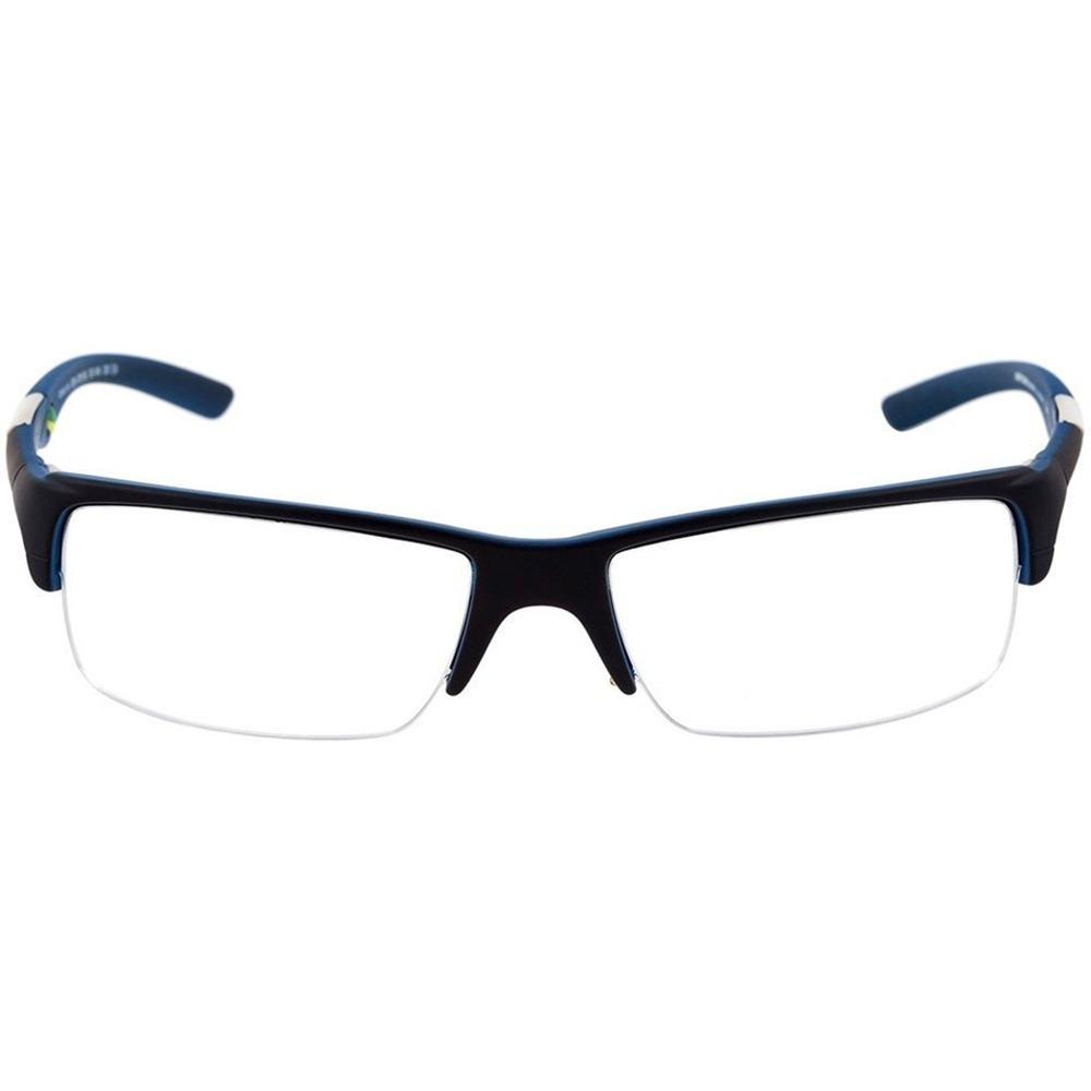 2069cfabb9766 armação oculos grau mormaii camburi air preto azul fosco. Carregando zoom.