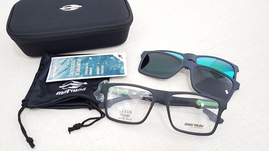 3a953362c07e8 Armação Oculos Grau Mormaii Swap M6057d63 Clipon Polarizado - R  299 ...