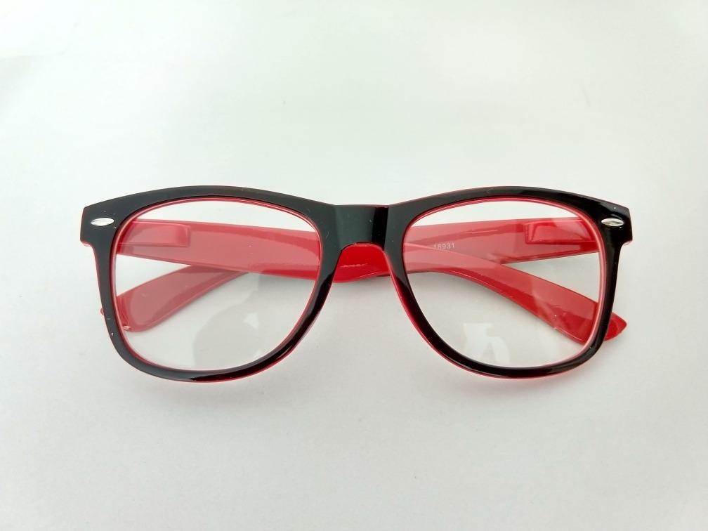 dc4a3452e2465 armação óculos grau nerd geek barato vermelho e preto. Carregando zoom.